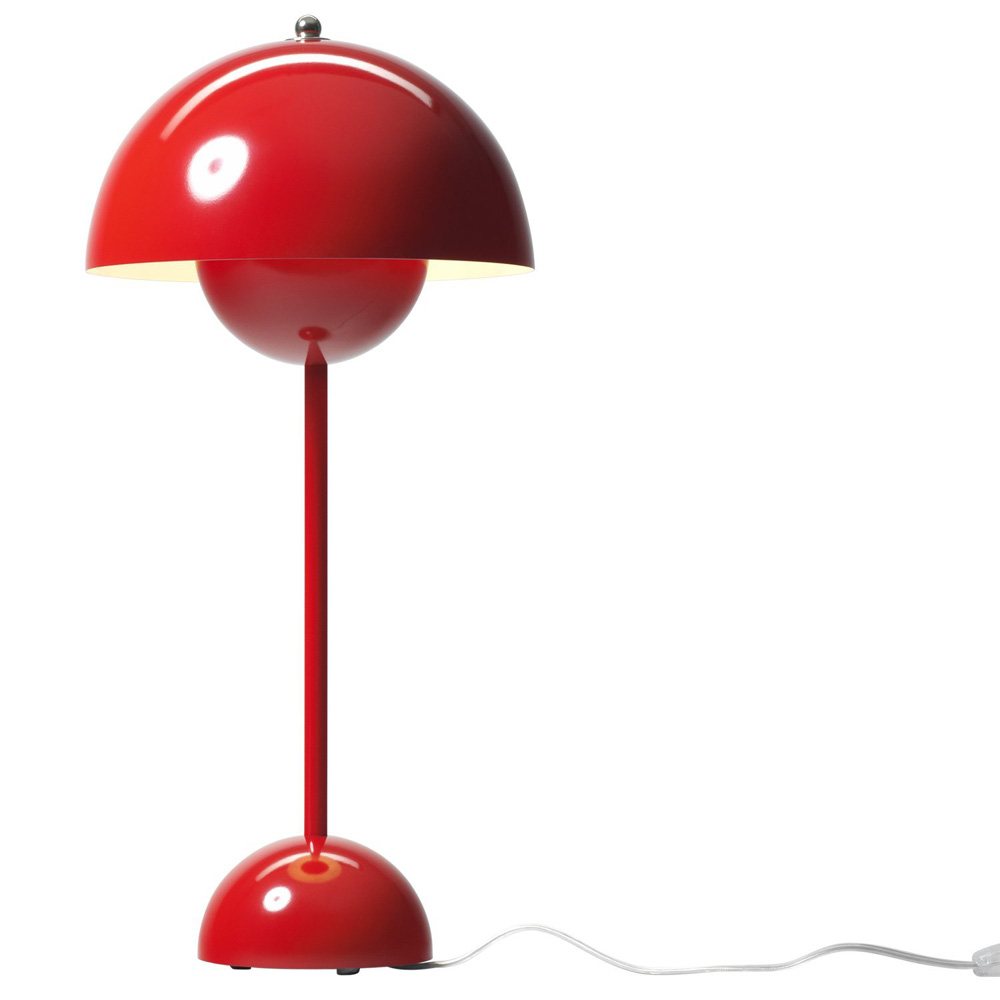 flowerpot vp3 wei tischleuchte tradition verner panton 20723001. Black Bedroom Furniture Sets. Home Design Ideas
