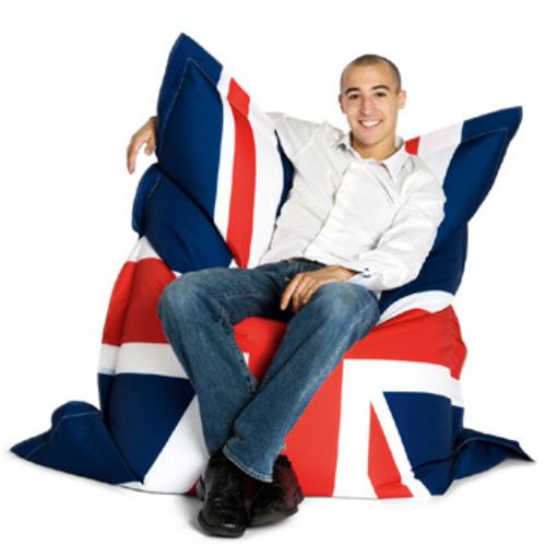 sitting bull god save the queen sitzsack fashion bag sitzkissen. Black Bedroom Furniture Sets. Home Design Ideas