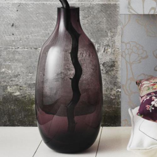 Holmegaard Gorgeous Lila Bodenvase Blumenvase Glas Maria Kariis