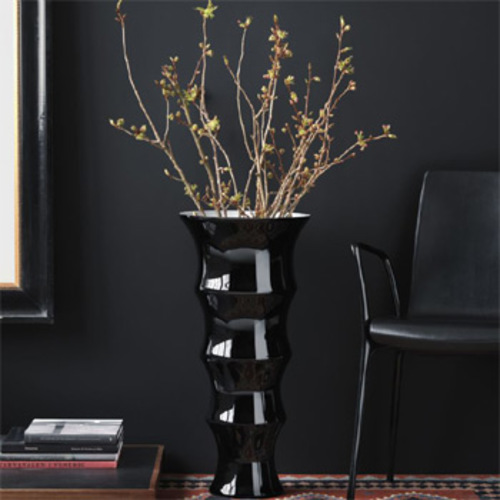 karen blixen holmegaard bodenvase schwarz 70 cm anja kjaer blumen. Black Bedroom Furniture Sets. Home Design Ideas