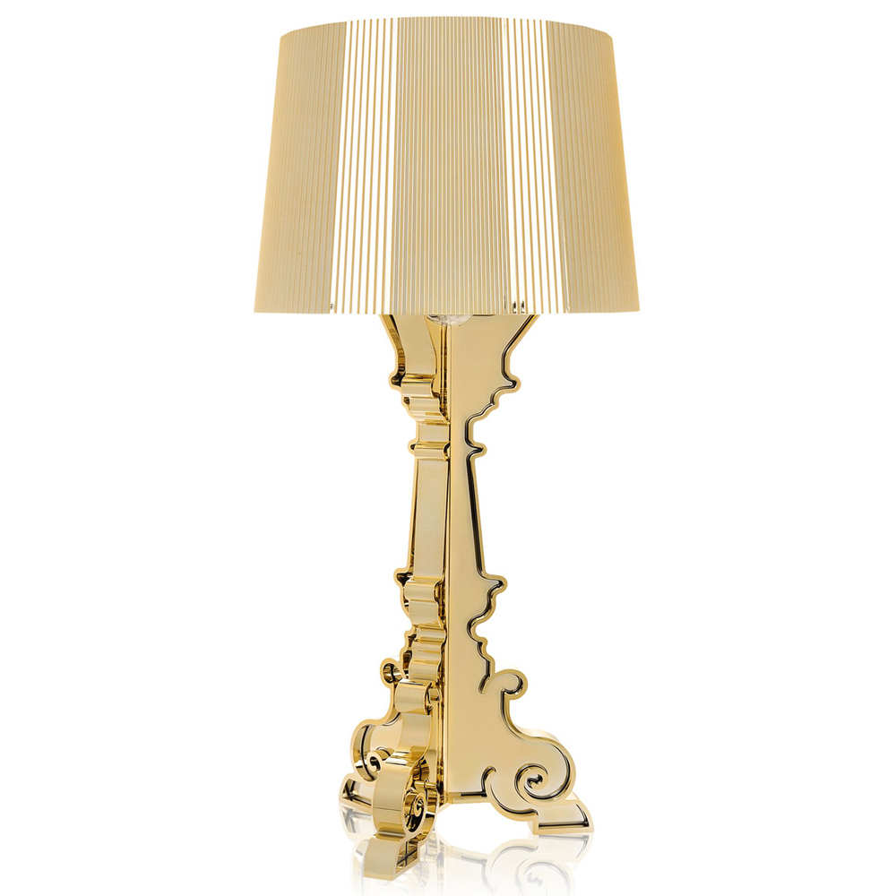 Kartell Bourgie Gold Metallisiert Tischleuchte Ferruccio Laviani