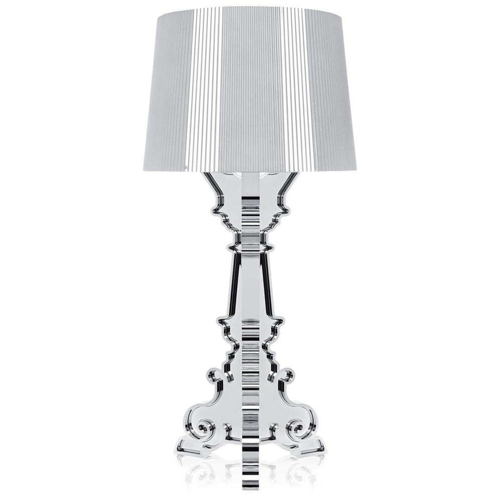 Kartell Bourgie Silber Leuchte Metallisiert Kartell Ferruccio Laviani