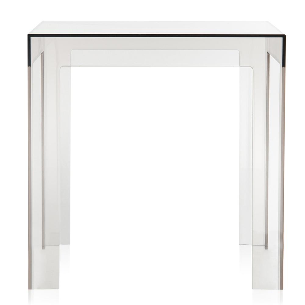Beistelltisch glas holz design rollen rund massivholz for Beistelltisch 40x40x40