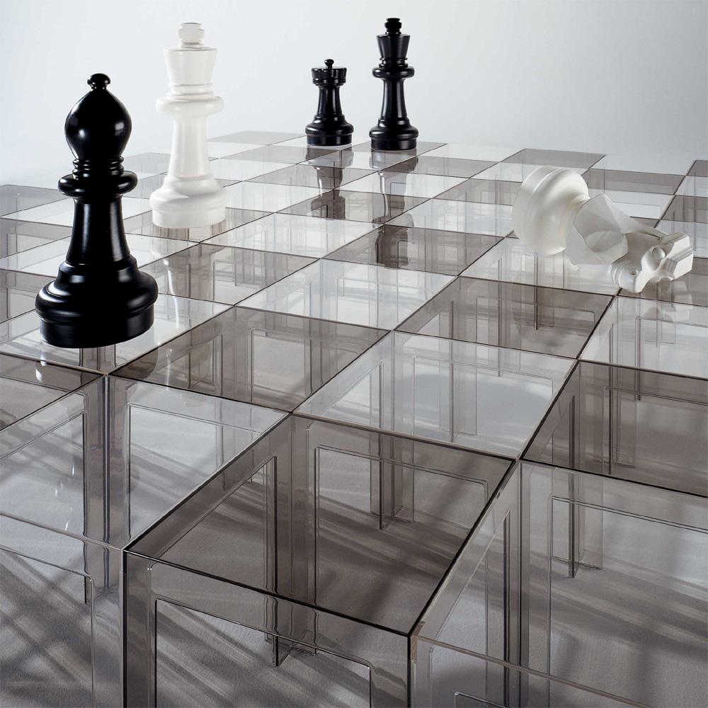 Kartell jolly beistelltisch glasklar transparent paolo for Beistelltisch 40x40x40