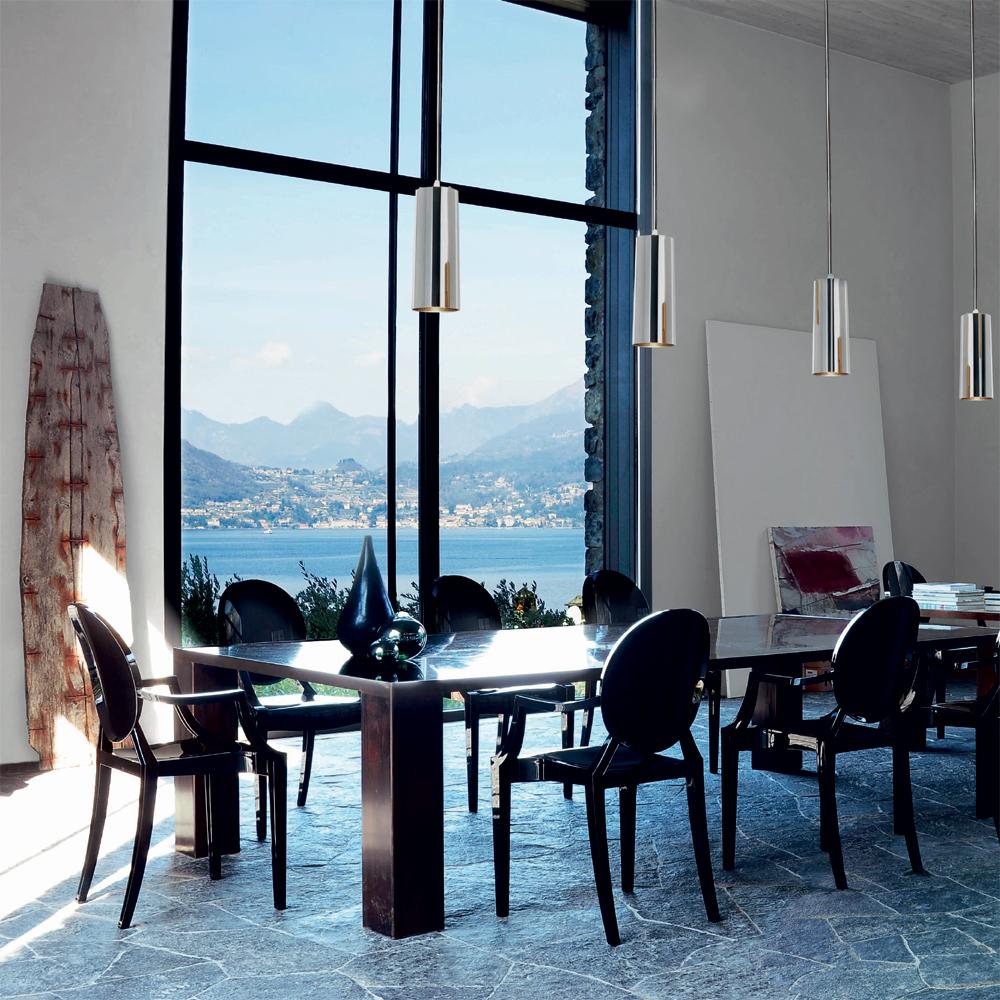 Kartell Louis Ghost Schwarz Stuhl Kunststoff Philippe Starck 4852 E6