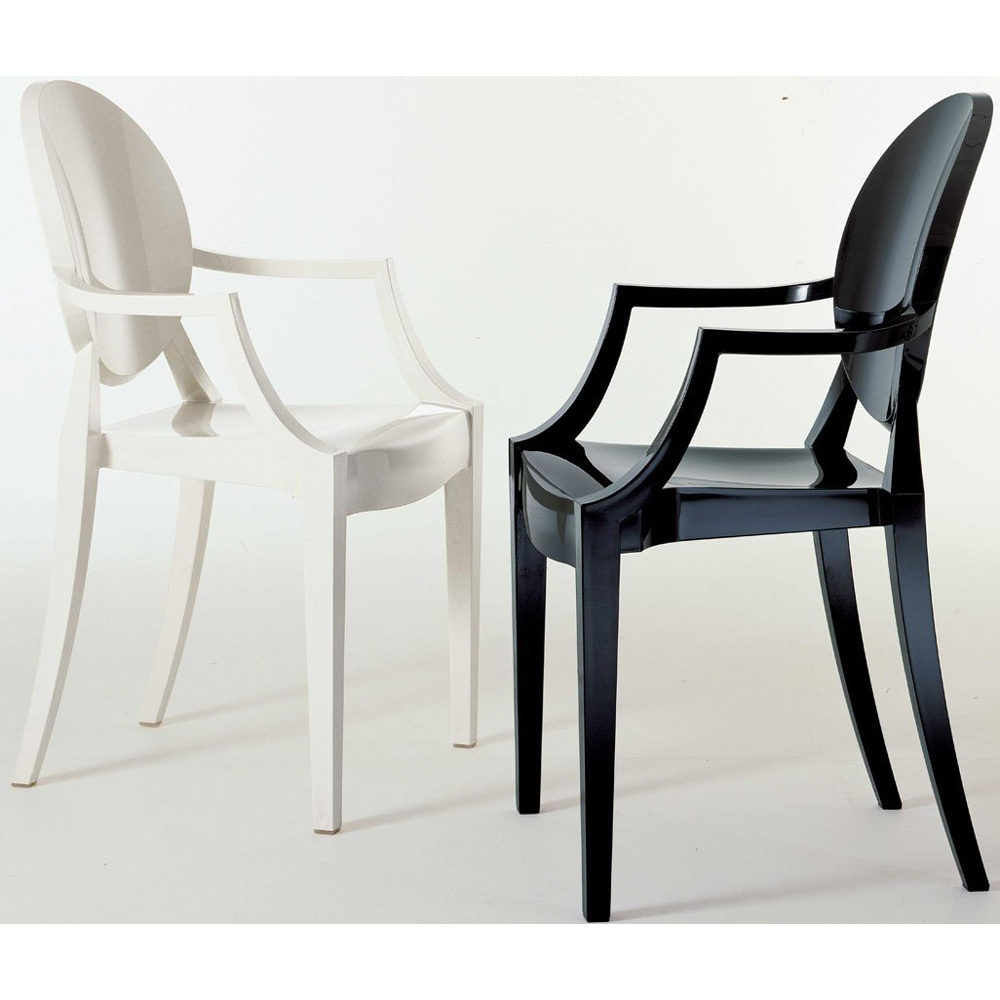 kartell louis ghost schwarz stuhl kunststoff philippe starck 4852 e6. Black Bedroom Furniture Sets. Home Design Ideas
