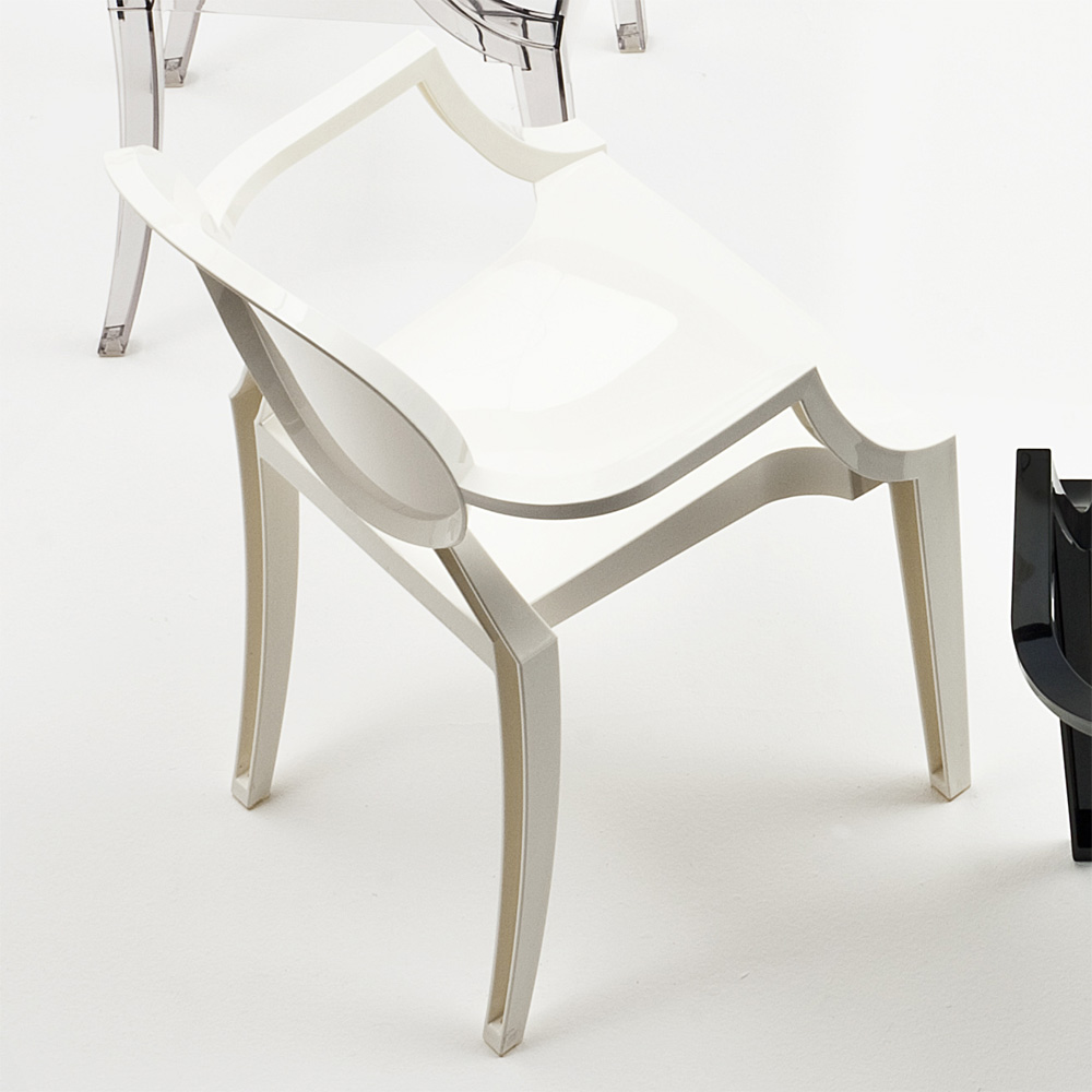 kartell louis ghost stuhl wei deckend gl nzend philippe. Black Bedroom Furniture Sets. Home Design Ideas
