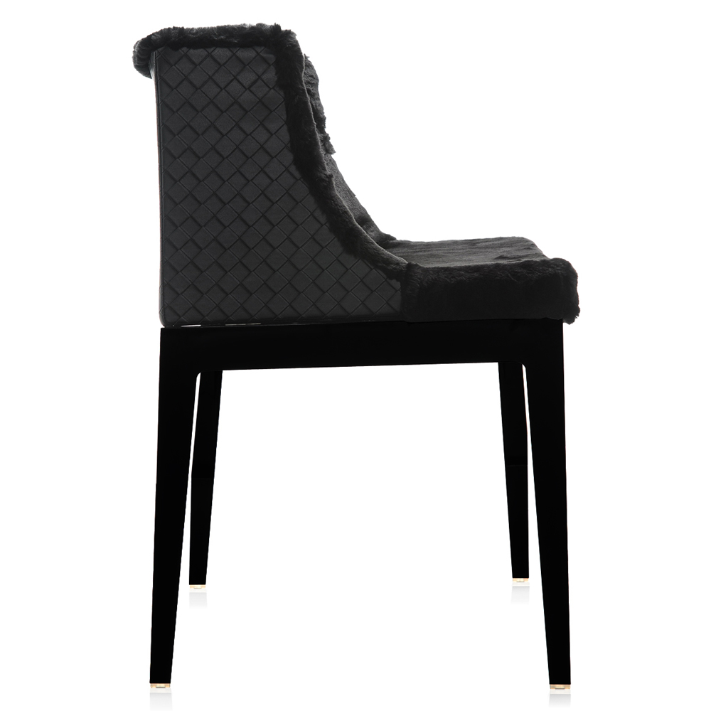 kartell mademoiselle kravitz leder schwarz stuhl sessel philippe starck. Black Bedroom Furniture Sets. Home Design Ideas