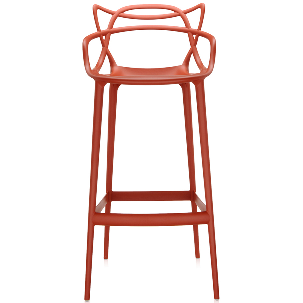 kartell masters stool barhocker rostorange 75 cm philippe starck. Black Bedroom Furniture Sets. Home Design Ideas