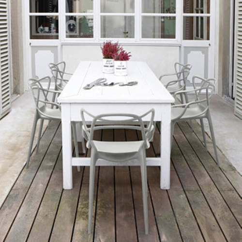 kartell masters stuhl grau philippe starck eugeni polypropylen deckend. Black Bedroom Furniture Sets. Home Design Ideas