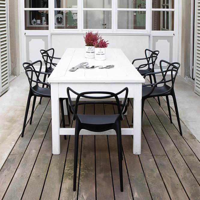 Kartell Masters Schwarz Stuhl Philippe Starck Design