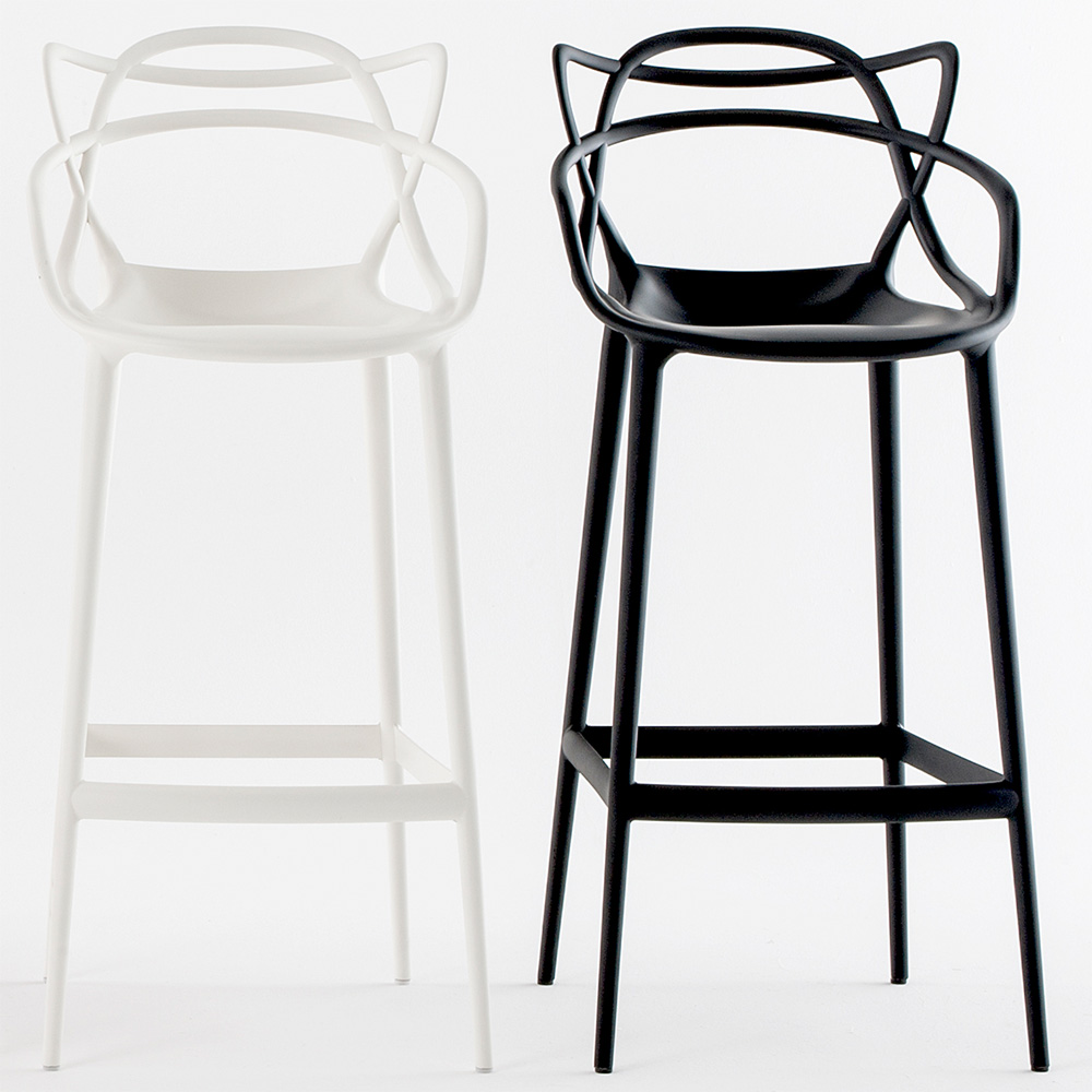 kartell masters stool barhocker schwarz sitzh he 75 cm. Black Bedroom Furniture Sets. Home Design Ideas