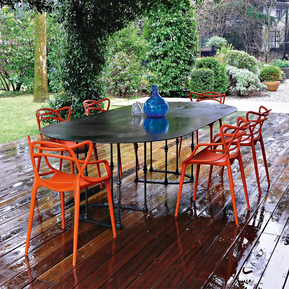 Masters Stuhl In Rostbraun   Kartell   Philippe Starck U0026 Eugeni Quitllet