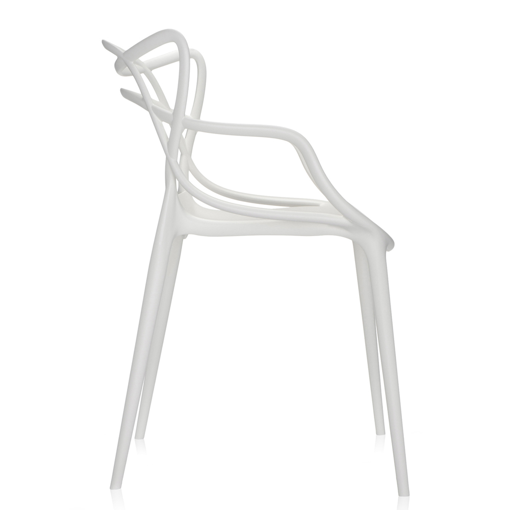 Masters Stuhl in Weiß - Kartell - Philippe Starck & Eugeni Quitllet