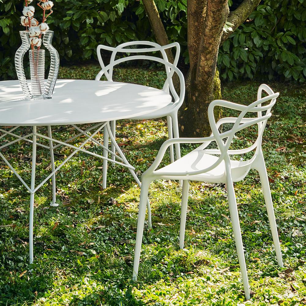 kartell masters stuhl wei philippe starck eugeni quitllet polypropylen. Black Bedroom Furniture Sets. Home Design Ideas
