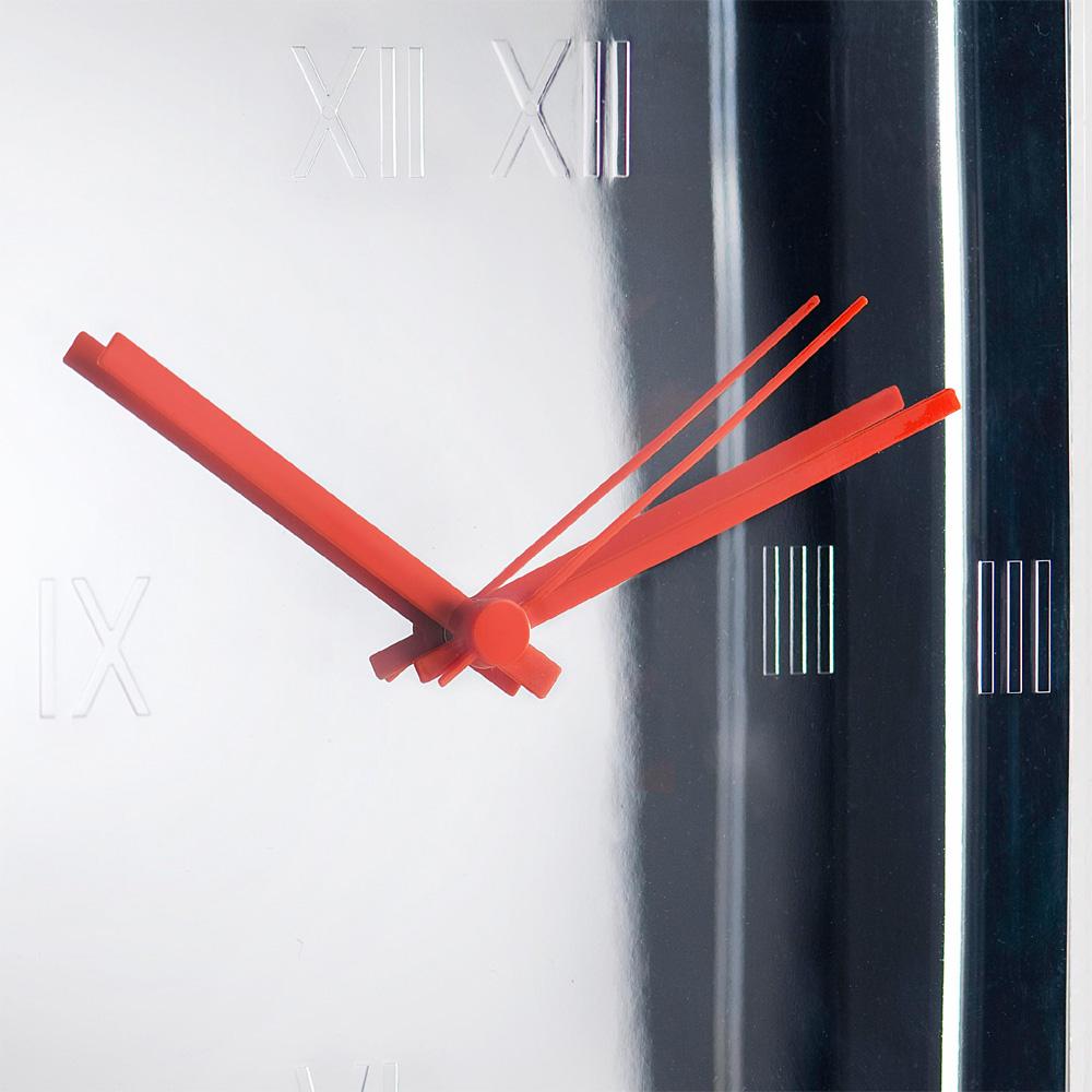 kartell tic tac wanduhr metallisiert verchromt k chenuhr philippe starck. Black Bedroom Furniture Sets. Home Design Ideas