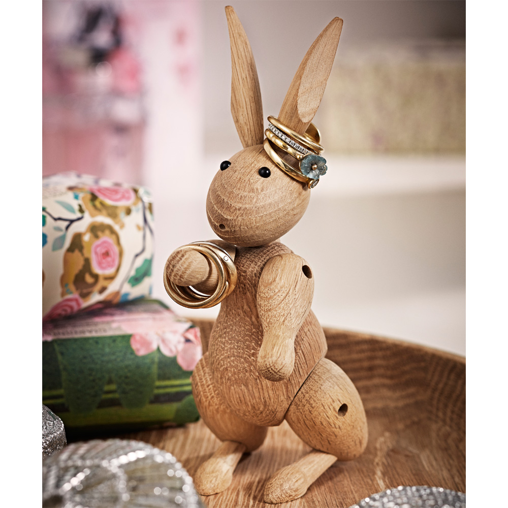 Kay bojesen kaninchen tierfigur deko eichenholz hase rosendahl for Wohnung rosendahl
