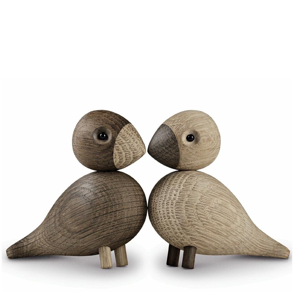 kay bojesen unzertrennliche vogelfiguren dekov gel eiche natur 39204. Black Bedroom Furniture Sets. Home Design Ideas