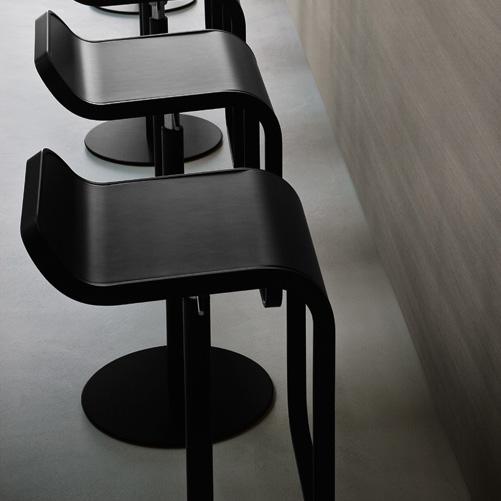 Lapalma lem schwarz lackiert gebeizt barhocker sitzh he 66 for Lem barhocker