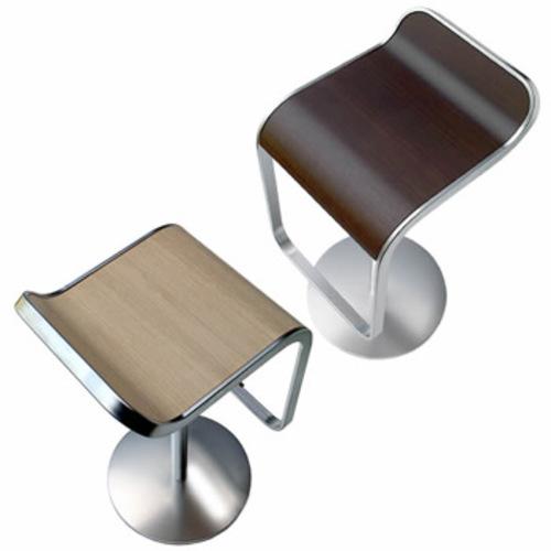 lapalma thin barhocker eiche gebleicht nussbaum edelstahl sitzhocker. Black Bedroom Furniture Sets. Home Design Ideas