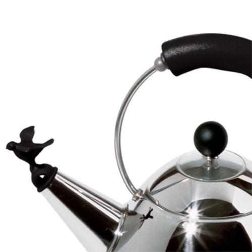 alessi mg32 b wasserkessel elektrischer wasserkocher schwarz vogelfl te. Black Bedroom Furniture Sets. Home Design Ideas