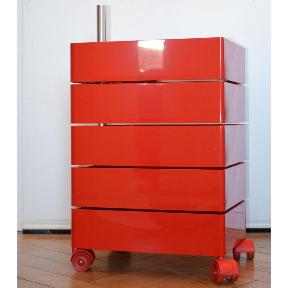 Rollcontainer Rot magis 360 grad container rot 5 schubkästen schufächer grcic design