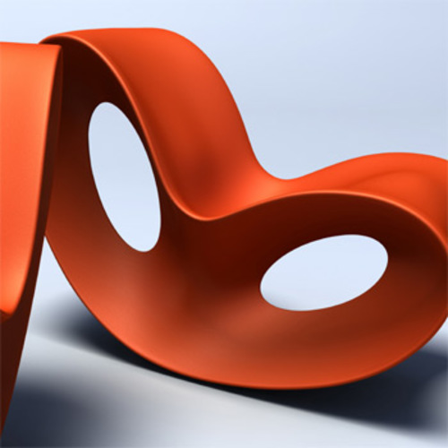 Voido Schaukelstuhl in Orange - Magis - Ron Arad