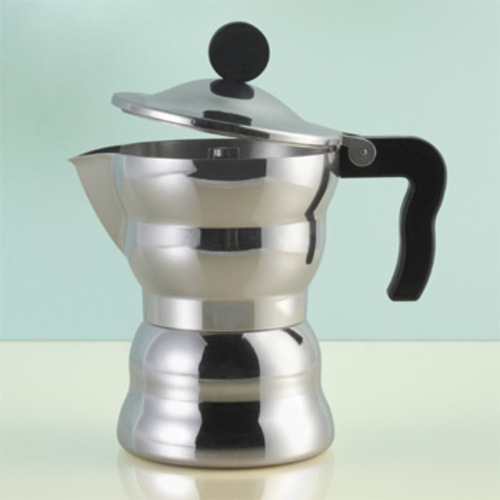 moka alessi aam33 6 espressomaschine plattenkocher alessandro mendini. Black Bedroom Furniture Sets. Home Design Ideas