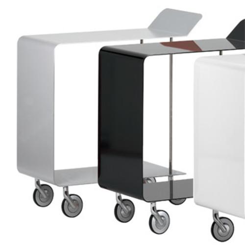 pieperconcept monza silber beistellwagen rollwagen servierwagen design. Black Bedroom Furniture Sets. Home Design Ideas
