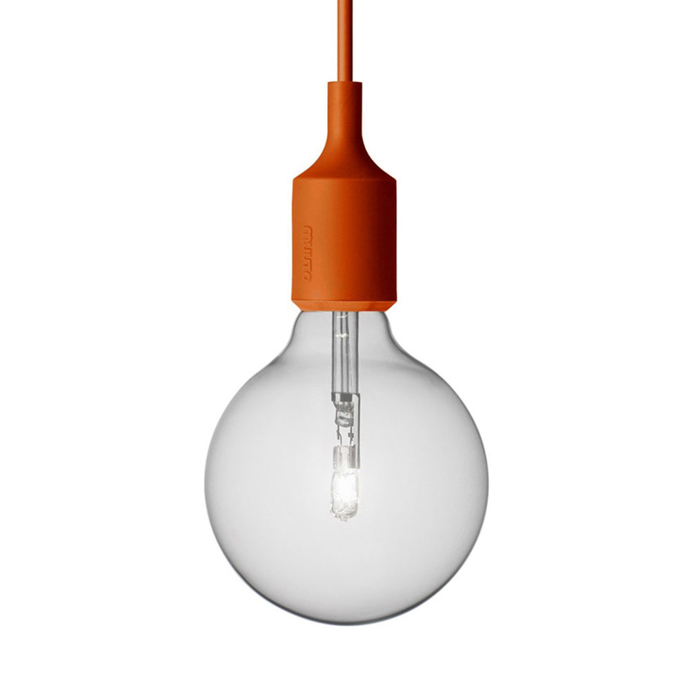 E27 Socket Lamp Pendelleuchte Orange - Muuto 5172 - Mattias Stahlbom