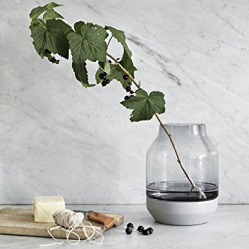 Elevated Vase Grau - Muuto 14151 - Thomas Bentzen