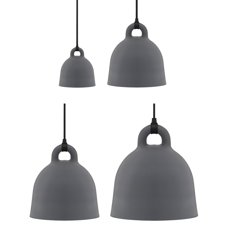 Bell Lamp Small Grey [35 cm] - Normann Copenhagen 502110 - Andreas Lund & Jacob Rudbeck