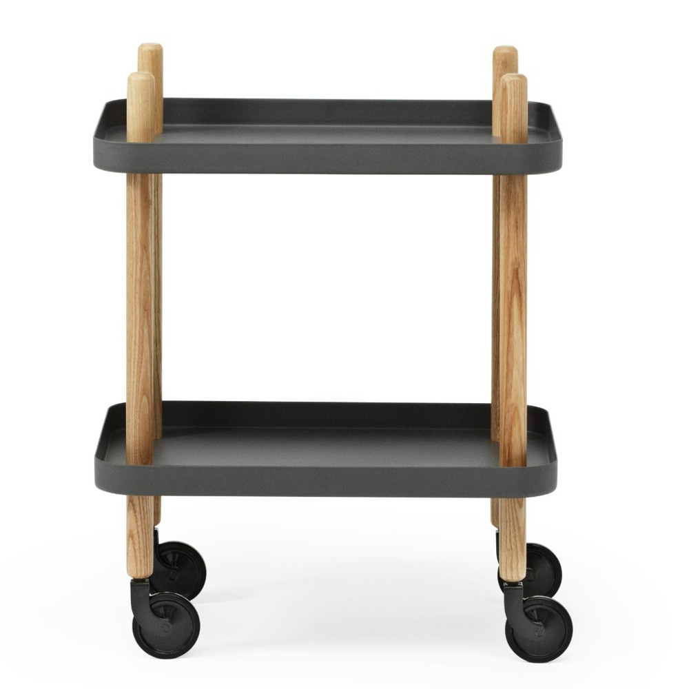 Block Table mit Rollen Dark Grey / Dunkelgrau - Normann Copenhagen 602205 - Simon Legald