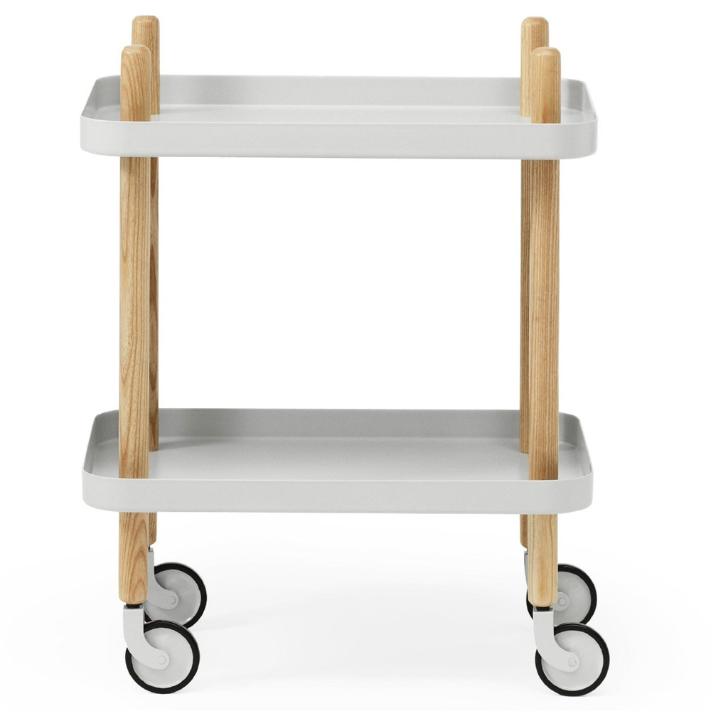 Block Table mit Rollen Light Grey / Hellgrau - Normann Copenhagen 602200 - Simon Legald
