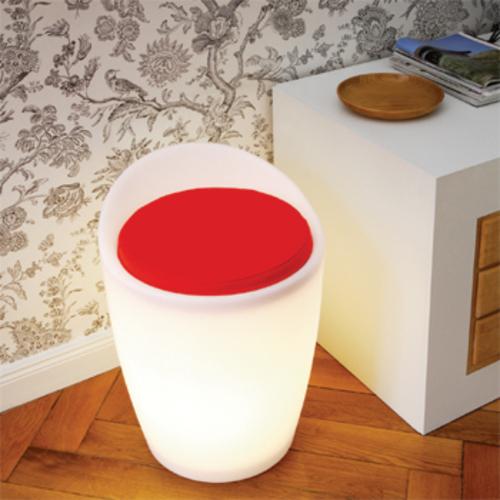 authentics otto leuchthocker sitzhocker indoor georg draser designhocker. Black Bedroom Furniture Sets. Home Design Ideas