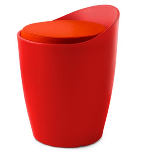 authentics otto sitzhocker georg draser outdoorhocker wei rot blau. Black Bedroom Furniture Sets. Home Design Ideas