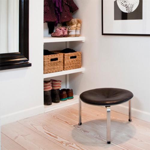 pk33 hocker fritz hansen poul kjaerholm designhocker lederhocker. Black Bedroom Furniture Sets. Home Design Ideas