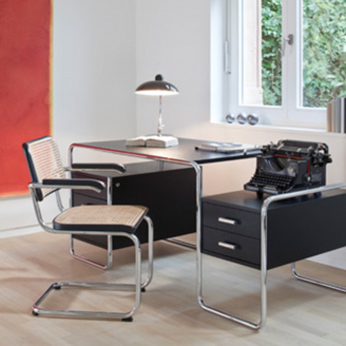 thonet s 285 schreibtisch marcel breuer stahlrohr. Black Bedroom Furniture Sets. Home Design Ideas