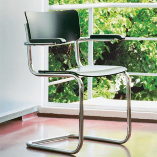 thonet s 43 f armlehnen freischwinger buche gebeizt. Black Bedroom Furniture Sets. Home Design Ideas