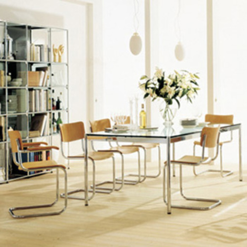 s 43 f thonet armlehnen holzstuhl mart stam freischwinger. Black Bedroom Furniture Sets. Home Design Ideas