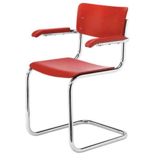 thonet s 43 f stuhl armlehnen decklackiert freischwinger mart stam. Black Bedroom Furniture Sets. Home Design Ideas