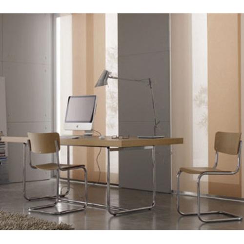 s 43 thonet holzstuhl freischwinger mart stam verchromtes. Black Bedroom Furniture Sets. Home Design Ideas