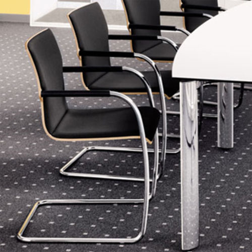 s 90 pfst thonet stahlrohrstuhl gepolsterter stapelbar freischwinger. Black Bedroom Furniture Sets. Home Design Ideas