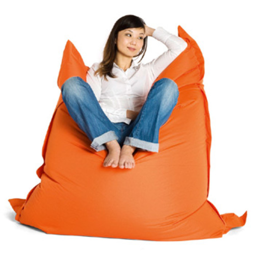 sitting bull sitzsack orange grijzemuren. Black Bedroom Furniture Sets. Home Design Ideas