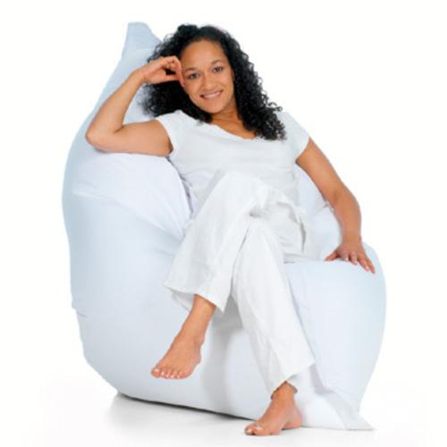 sitting bull sitzsack wei white sitzkissen bodenkissen xxl. Black Bedroom Furniture Sets. Home Design Ideas