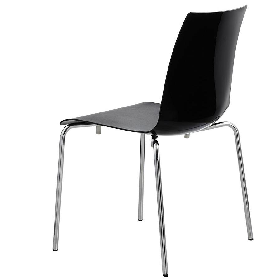 Stendal hugo 420 stuhl schwarz stapelbar stahlrohrstuhl for Designer stapelstuhl