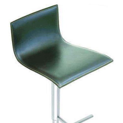 lapalma thin barhocker leder schwarz wei braun h henverstellbar. Black Bedroom Furniture Sets. Home Design Ideas