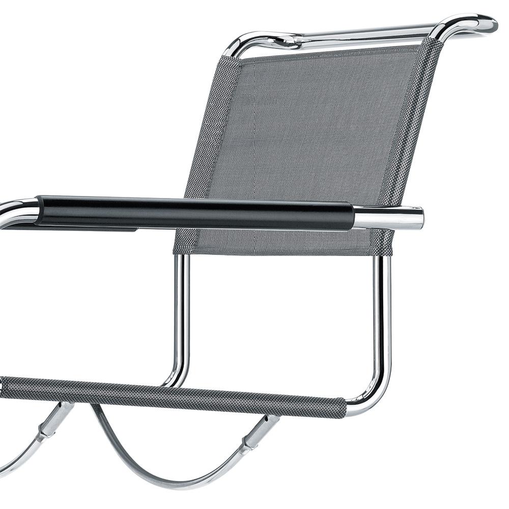 thonet s 34 n stuhl netzgewebe freischwinger schwarz armlehnen. Black Bedroom Furniture Sets. Home Design Ideas