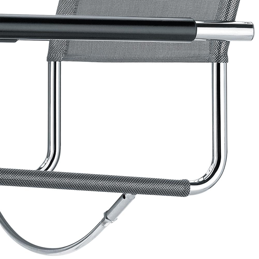 Thonet s 34 n stuhl netzgewebe freischwinger schwarz armlehnen for Thonet stuhl schwarz