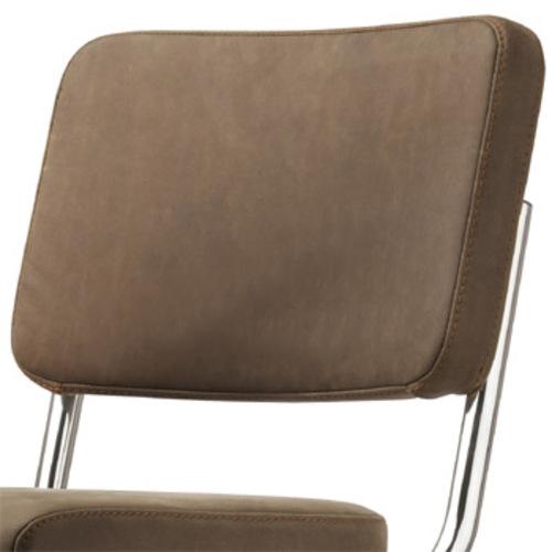 thonet s 32 pv pure materials nubukleder mittelbraun 1. Black Bedroom Furniture Sets. Home Design Ideas